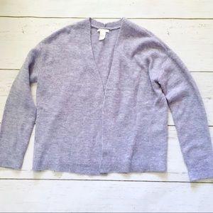 H&M basics light purple heathered open cardigan